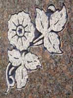 Flat Carving monument close-up