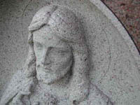 Close up of stone sculpture