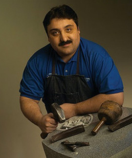 Paul A. DiMatteo, a third generation stone cutter and memorial artist
